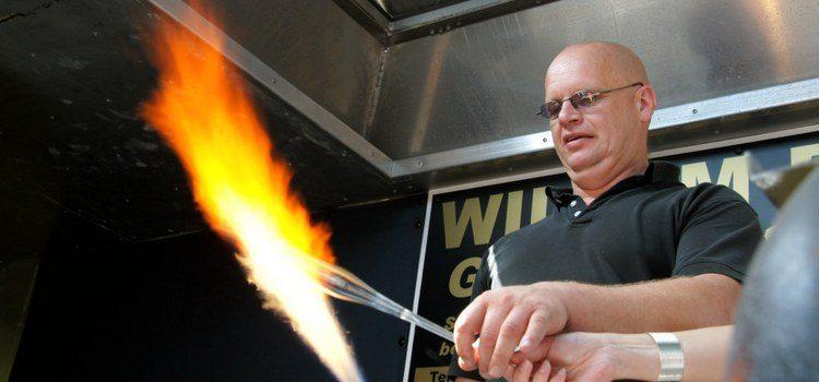 Glas en vuur - Glasblazer Willem Buyse